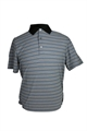 Ashworth Mens Fine Striped Polo Shirt