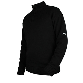 Woodworm Golf Lined Wool Half Zip Sweater