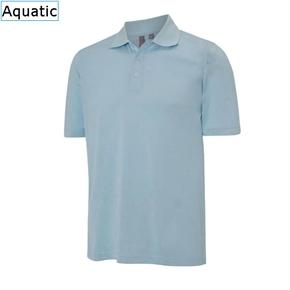 Ashworth Mens High Twist Jersey Polo Aquatic