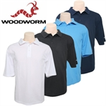 Woodworm Golf Polo Shirt - 4 pack