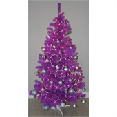 Homegear 6ft Purple Artificial Christmas Tree - Image 1
