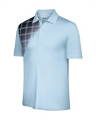 Adidas Mens ClimaCool Plaid Fade Polo