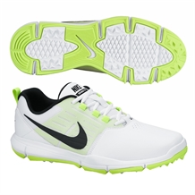 Nike Explorer Golf Shoes - White/Black/Volt