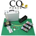 CQ Poker Deluxe Set inc Chips, Cards, Shuffler