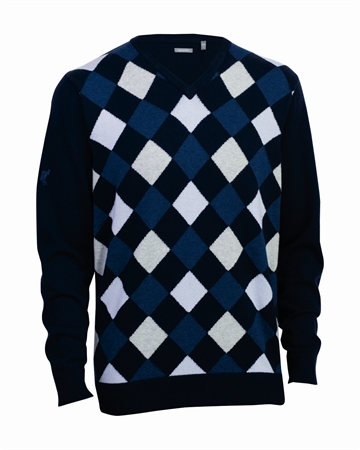 Ashworth Mens Pattern Sweater