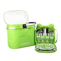 Confidence Picnic Basket BRIGHT GREEN POLKADOTS