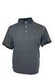 ASHWORTH BOLD STRIPED POLO W/ TRIM