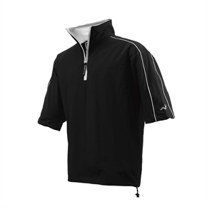 Woodworm Golf Waterproof Half Sleeve Top BLACK
