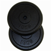 Confidence 20kg Cast Iron Weight Plates (2 x 10kg) - Image 1