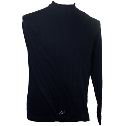 Greg norman long sleeve interlock mock neck shirt fore24 for Mock long sleeve t shirts