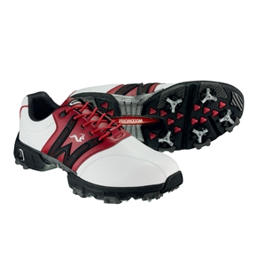 Woodworm Golf Tour Golf Shoes WHITE/RED