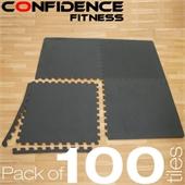 100x Confidence Interlocking Floor Tiles 400 sq ft - Image 1