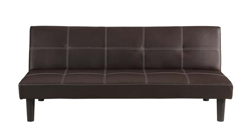 Homegear faux leather sofa bed the sports hq for Sofa lit cuir