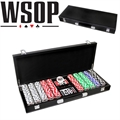 World Series Of Poker 500pc Set with Leather Case