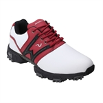 Woodworm Tour V2.0 Golf Shoes - White/Red