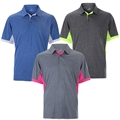 Woodworm Heather Golf Polo Shirts - 3 Pack