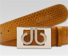 Druh Tour Crocodile Leather Belt Light Brown