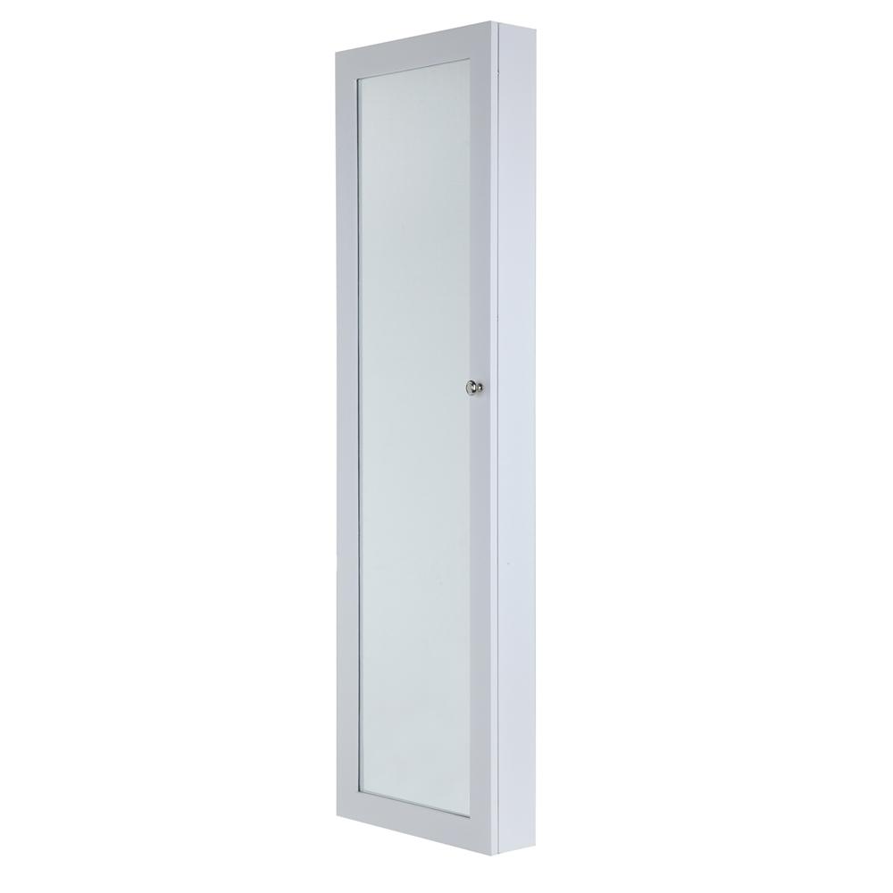 Homegear Door Wall Mounted Mirrored Jewelry Cabinet