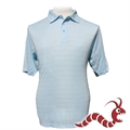 Woodworm Golf Pattern Polo Shirt LIGHT BLUE