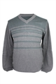 Ashworth Mens V-Neck Sweater With Sripe Print