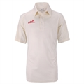 Woodworm Pro Cricket Short Sleeve Shirt Cream