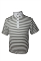 Ashworth Mens 3 Tone Striped Polo Shirt