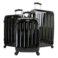 Swiss Case 4 Wheel 3 Piece Hard Suitcase Set BLACK