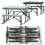 Foldable 3 pc Picnic Set inc Table and Benches