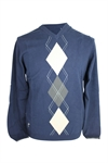 ASHWORTH V NECK SWEATER WITH ARGYL CENTER