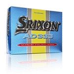 2 x 12 Srixon AD333 Golf Balls - Yellow