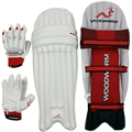 Woodworm Cricket Mens Batting Gloves/Pads Set