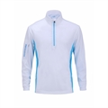 Woodworm 1/2 Zip Tech Golf Pullover - White/Blue