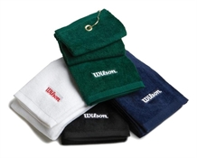 Wilson Deluxe Trifold Golf Towel EMBROIDERED