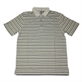 ASHWORTH MENS THIN STRIPES 3 TONE POLO