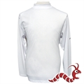 Woodworm Golf Long Sleeve Mock Shirt WHITE