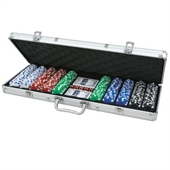 CQ Poker 500 Dice 11.5g Poker Chips in Alu Case
