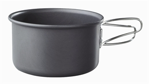 0.5L Hard Anodized Aluminium Pot by Camping.co.uk
