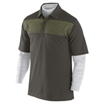 Nike Stripe Layered Polo Sable Green