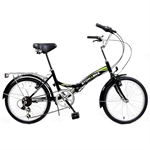 Stowabike Folding City V2 Compact Bike Black/Green