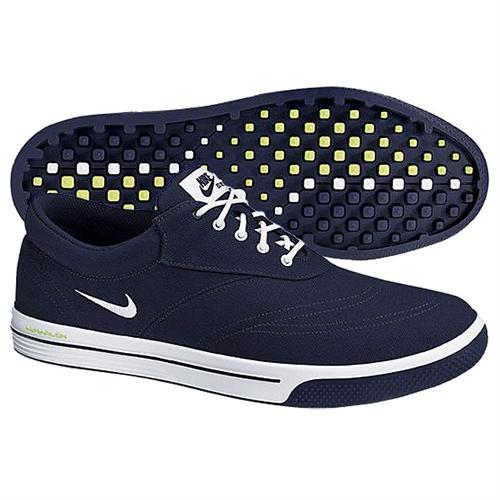 nike mens lunar swingtip canvas golf shoes navy green