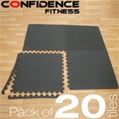 20x Confidence Interlocking Floor Tiles 80 sq ft - Image 1