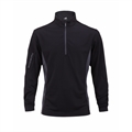 Woodworm 1/2 Zip Tech Golf Pullover - Black/Grey