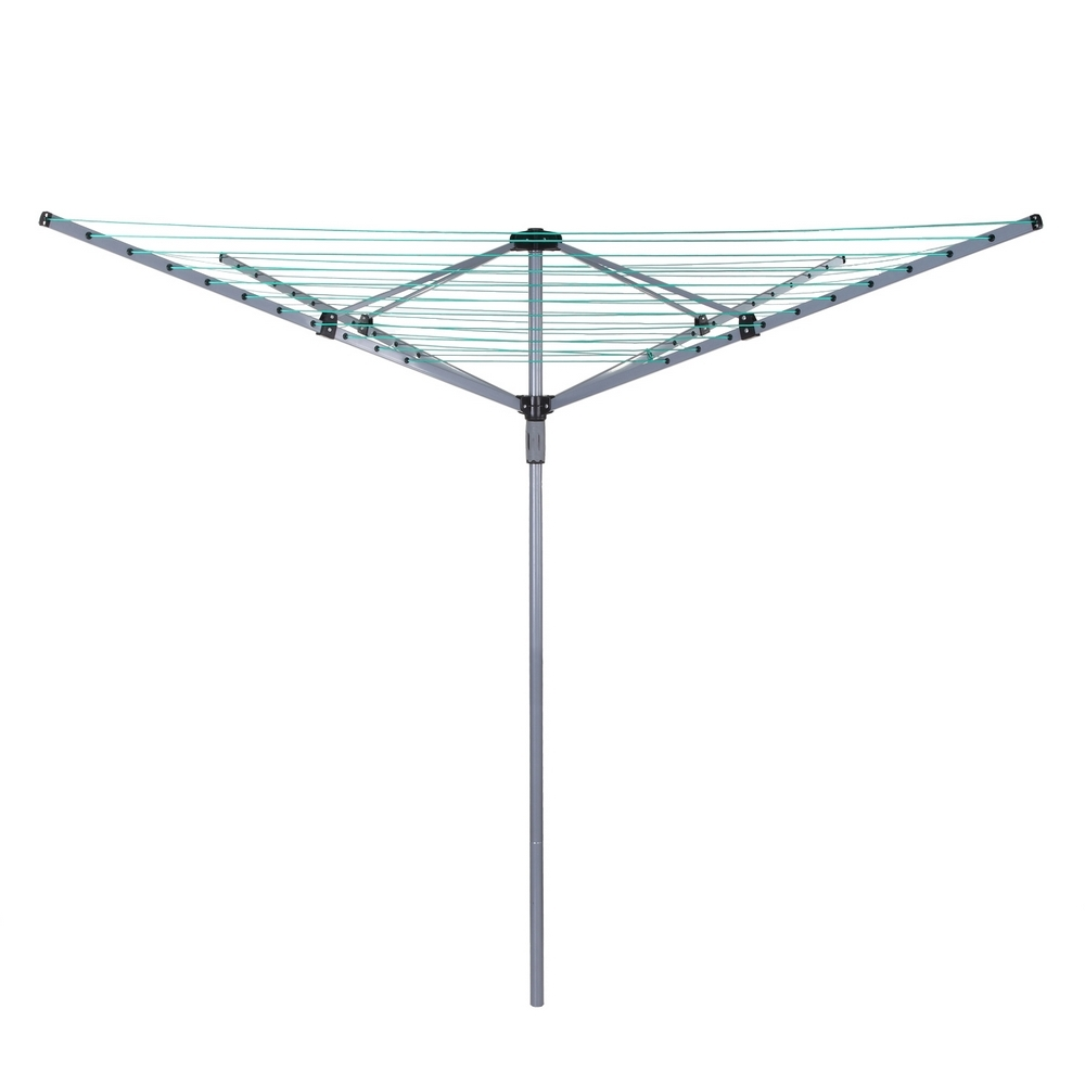 homegear outdoor 4 arm 50m rotary clothes airer dryer. Black Bedroom Furniture Sets. Home Design Ideas