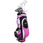 GolfGirl FWS2 Golf Clubs Set + Bag  LLH (10 clubs)