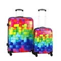 Swiss Case 4 Wheel 2Pc Hard Suitcase Set - Block
