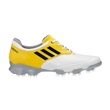 Adidas Adizero Tour WD Golf Shoes - White Yellow
