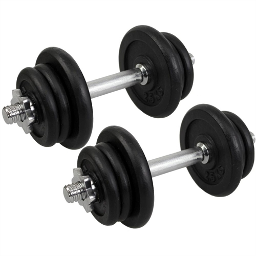 25 Lbs Dumbbell Set: Confidence Fitness PRO 25kg Dumbbell Weights Set
