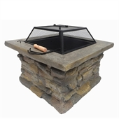 Palm Springs Outdoor Stone Fire Pit - Image 1
