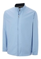 Ashworth Mens LS Full Zip Windshirt Blue