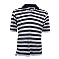 Woodworm Pro Striped Polo Black